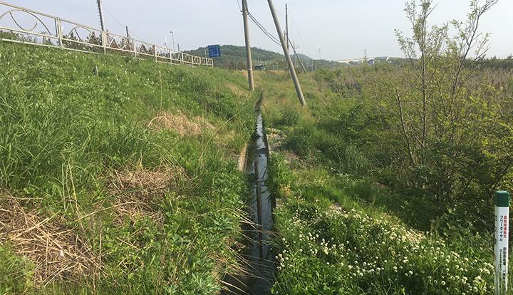 法面排水が得られる水する側溝