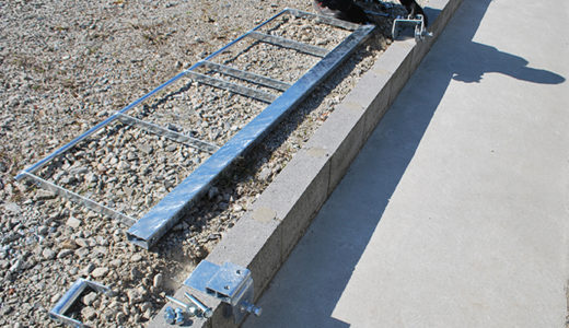 サクットガードの施工手順 2個目のベース設置
