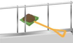 エコノミータイプ(柵の隙間が広いため、スコップ等をそのまま通せる)
