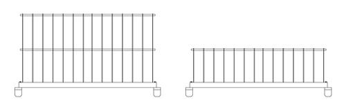 転落防止柵サクットガード標準タイプ