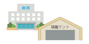 病院の隔離テント伝染病患者感染症対策