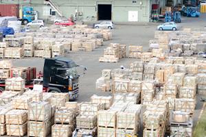 工事中の一時移動場所仕掛品保管
