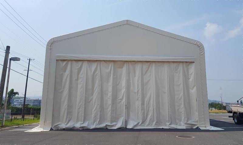 特許取得のテント倉庫を一時レンタルできる